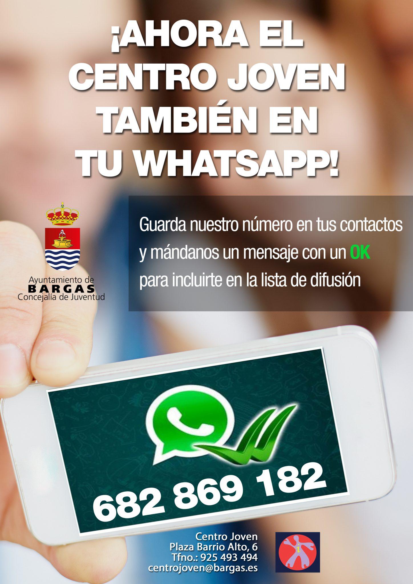 Bargas pone en marcha un nuevo servicio de consulta para jóvenes a través de WhatsApp