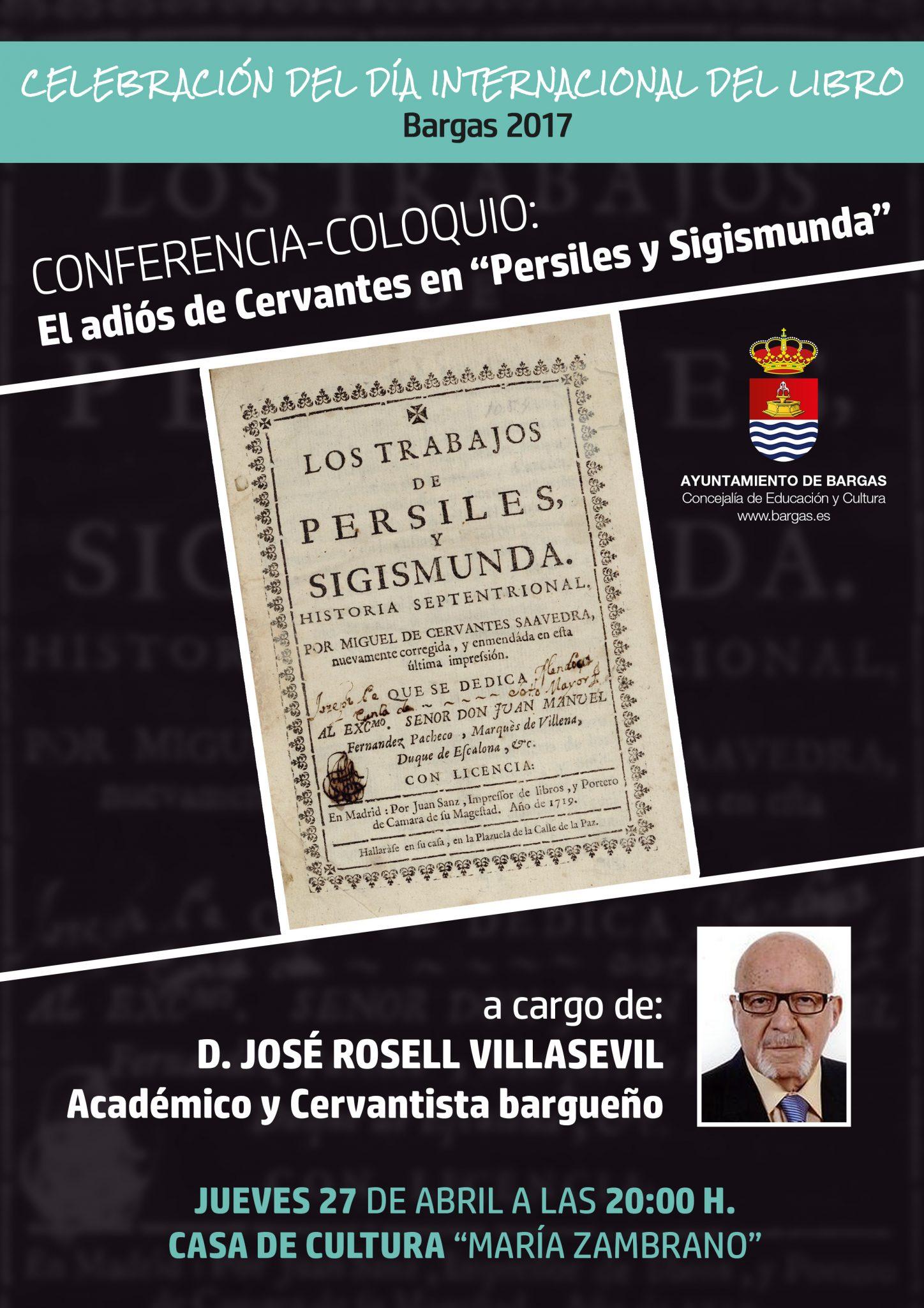 Conferencia-Coloquio: El adiós de Cervantes en «Persiles y Sigismunda»