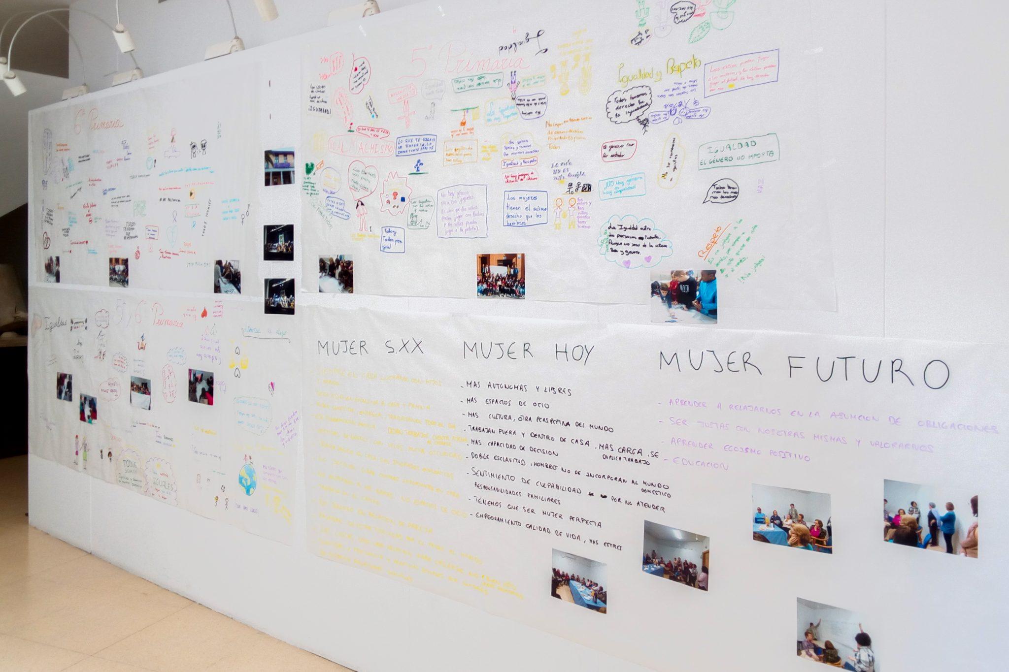 Exposición de fotografías y trabajos realizados con motivo del Día Internacional de La Mujer