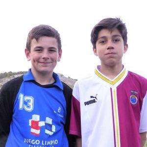 Simón Sánchez González y Daniel Rodríguez Maroto en el Campeonato de España con la Selección de Castilla-La Mancha de Fútbol Sub-12