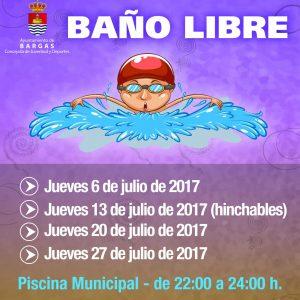 Baños libres en la Piscina Municipal – 2017
