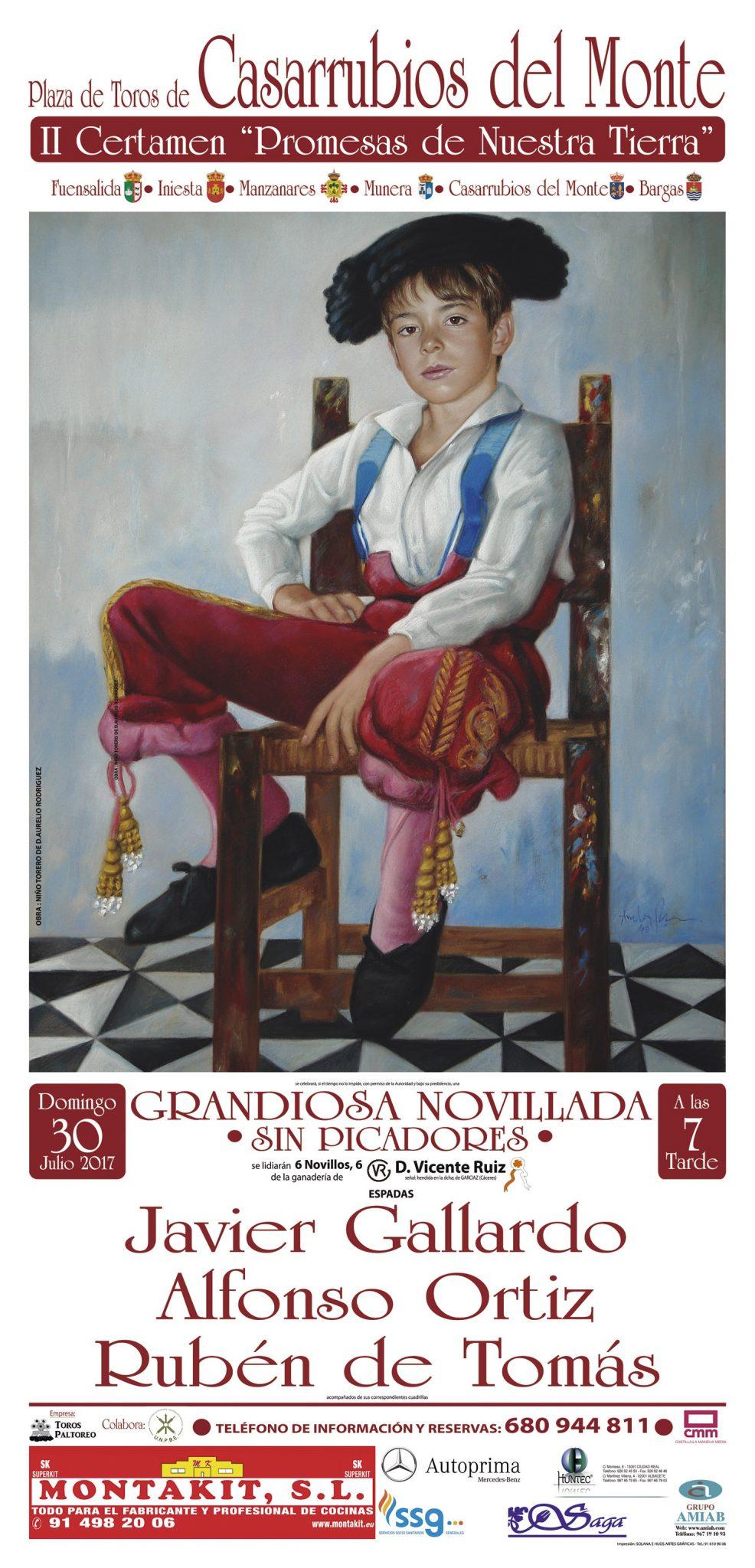 Rubén de Tomás en la novillada de Casarrubios del Monte, dentro del 2º Certamen «Promesas de Nuestra Tierra»