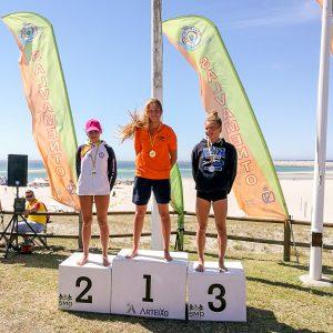 Miriam de Dios Lasa, podium en varias pruebas del Campeonato de España de Salvamento y Socorrismo