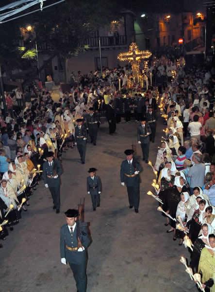 Autoridades asistentes a los actos religiosos que se celebrarán el proximo domingo, 17 de septiembre, con motivo de las fiestas populares en honor del Stmo. Cristo de la Sala