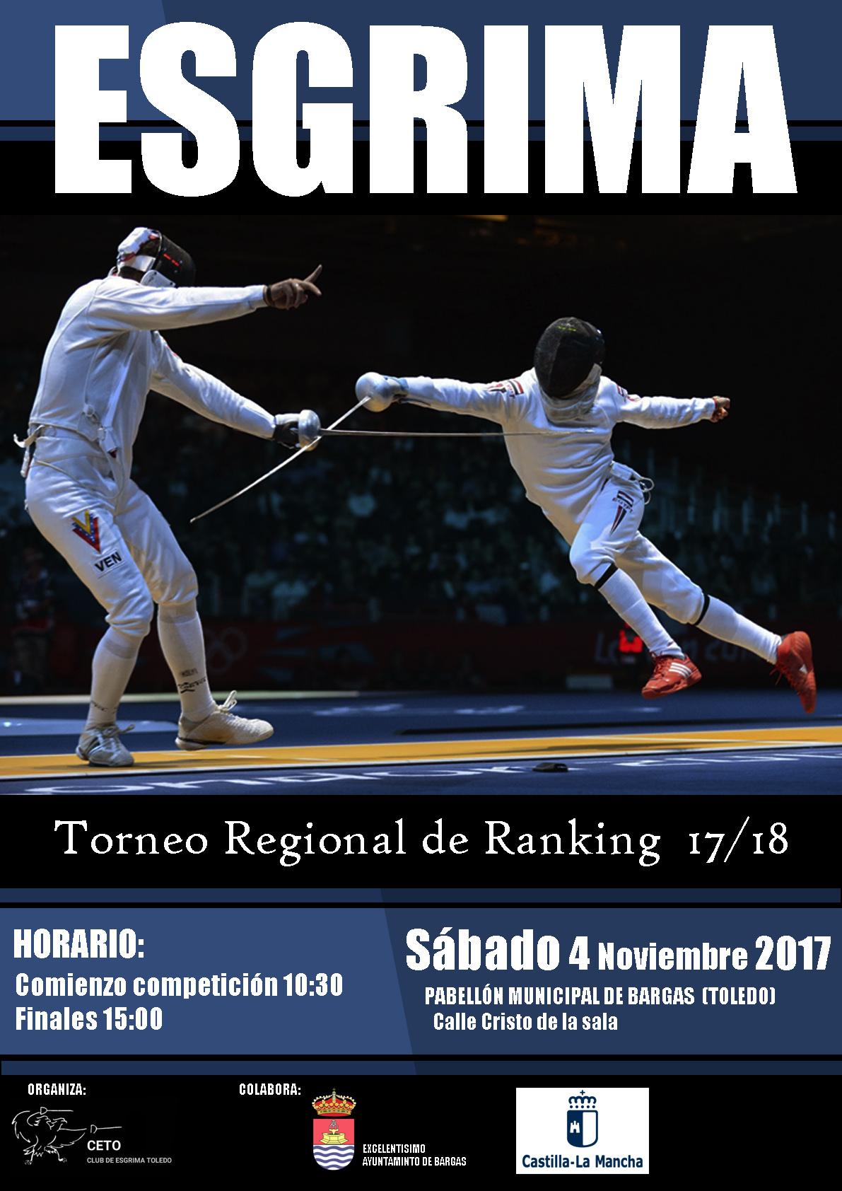 Torneo Regional de Esgrima – Ránking 17/18