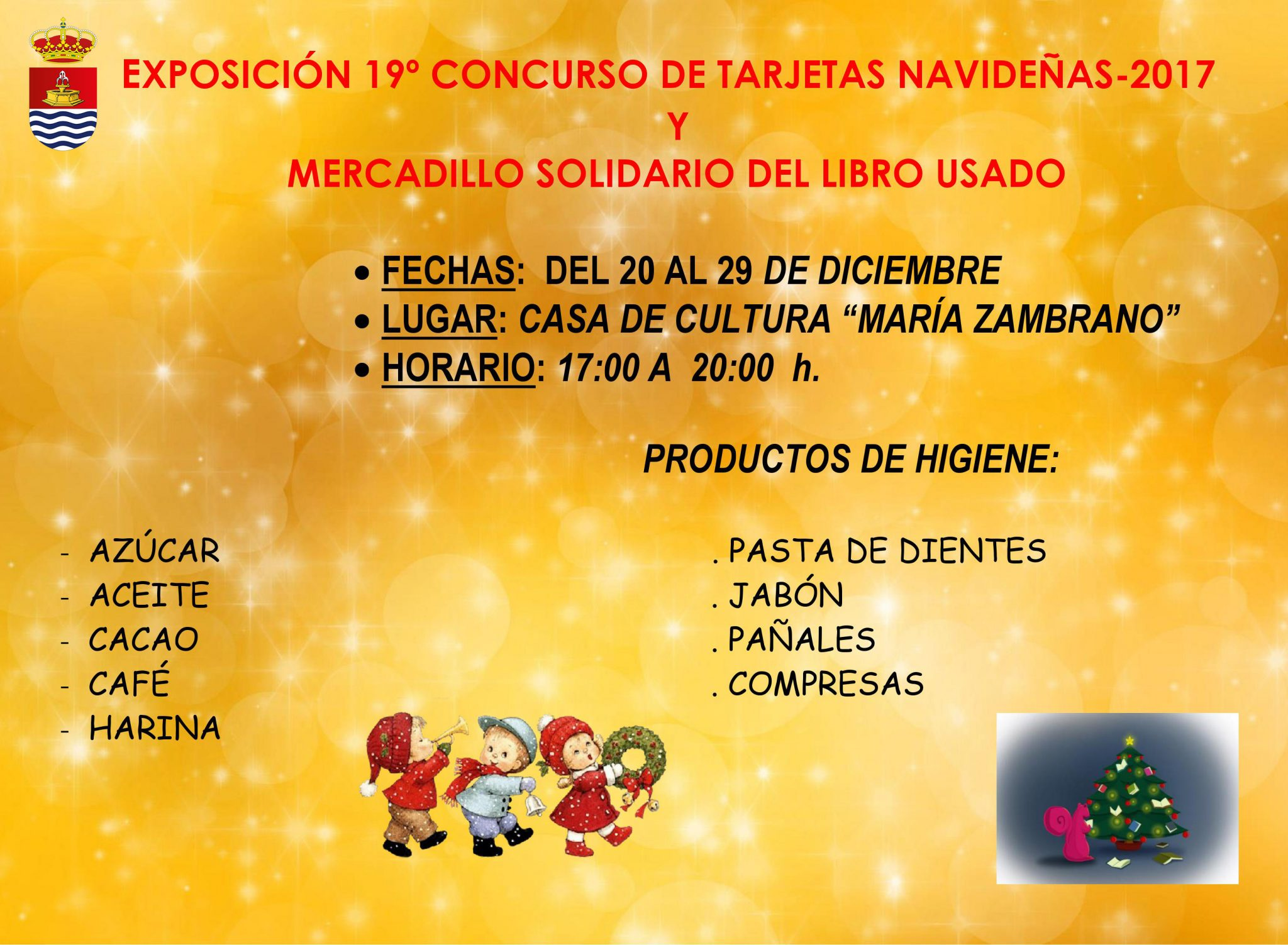Exposición del 19º Concurso de Tarjetas Navideñas y Mercadillo Solidario del Libro Usado