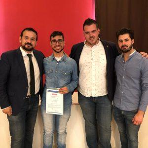 El bargueño, Manuel Vera, recibe su Youth Pass europeo dentro del programa Erasmus+