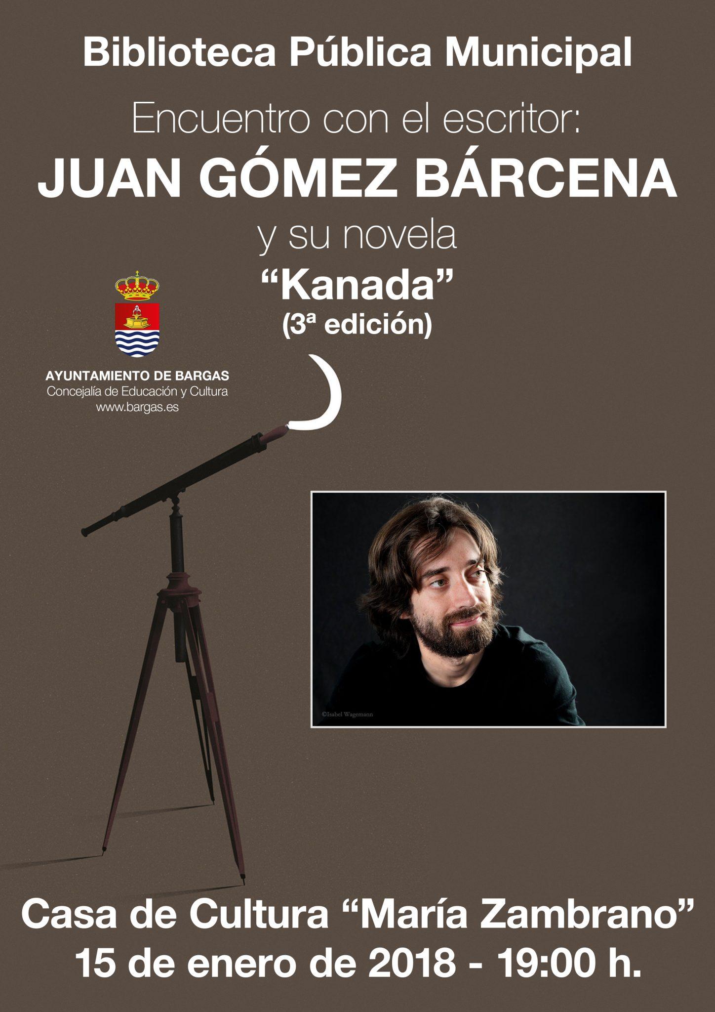 Encuentro con el autor Juan Gómez Bárcena y su novela «Kanada»