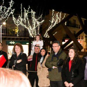 En Bargas, encendido de luces navideñas y colocación del Nacimiento y Árbol de Navidad