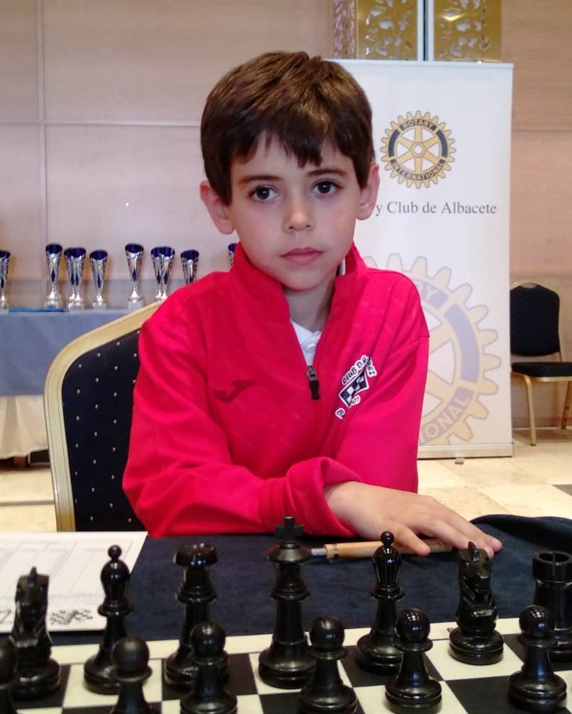 Dani Peña antes de jugar
