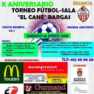 X Aniversario Torneo Fútbol Sala «El Cané»