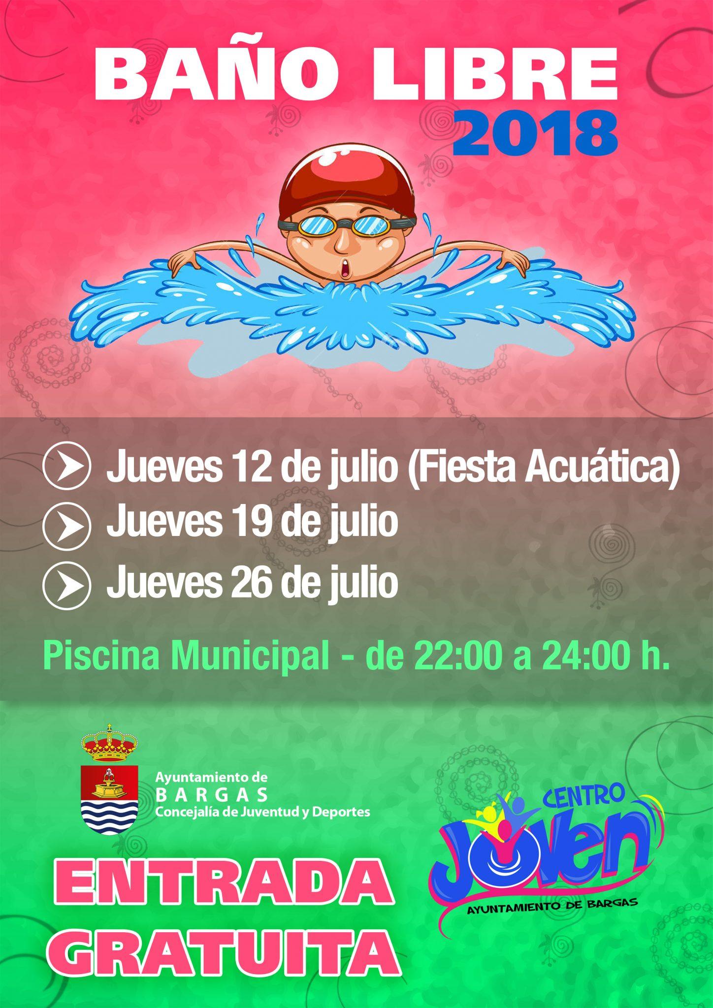 Baños libres en la Piscina Municipal – 2018