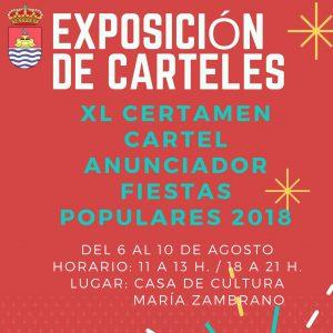 Exposición de Carteles presentados al XL Certamen del Cartel Anunciador de las Fiestas Populares 2018
