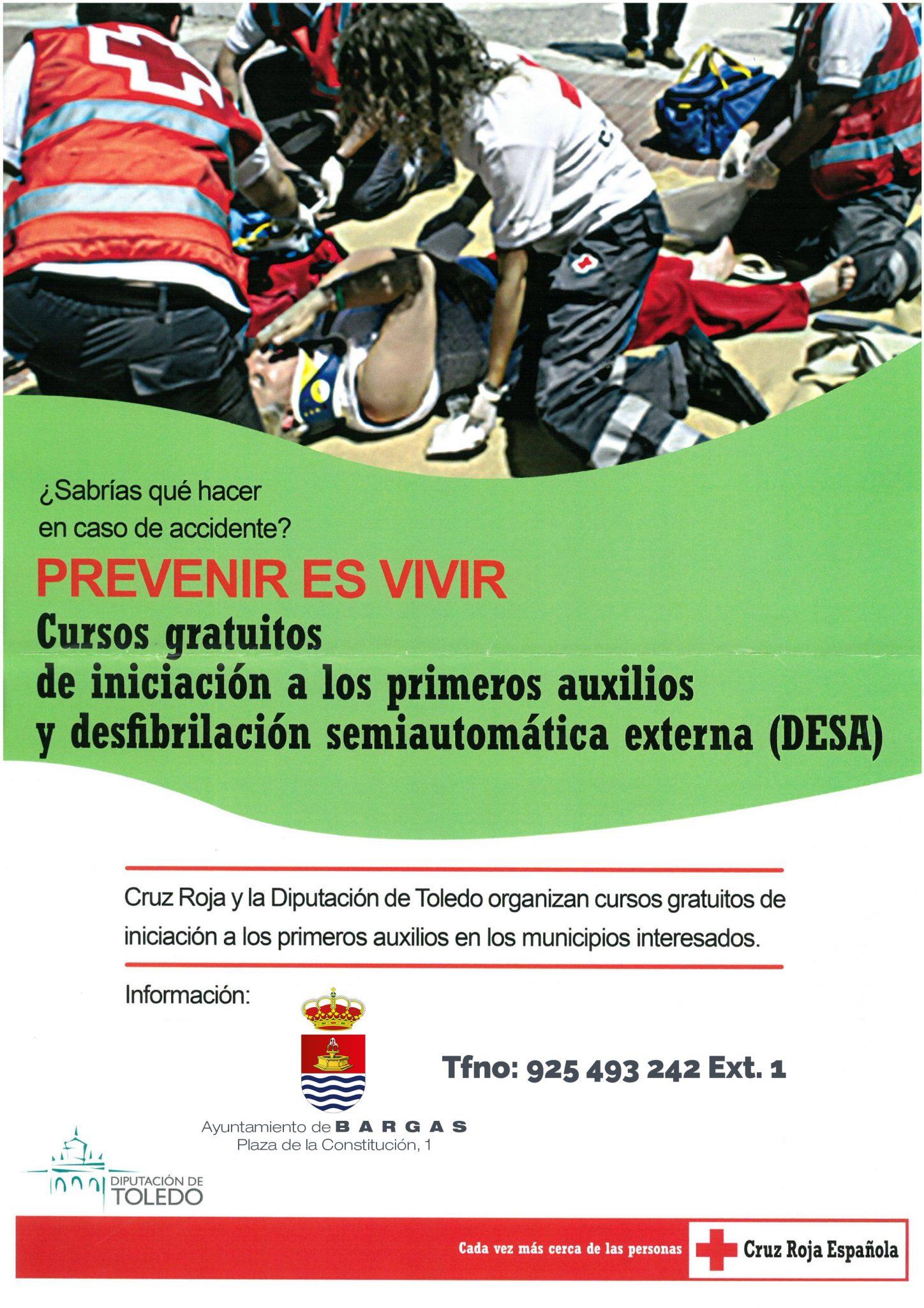 Abierto el plazo de inscripción para los cursos gratuitos de primeros auxilios y DESA
