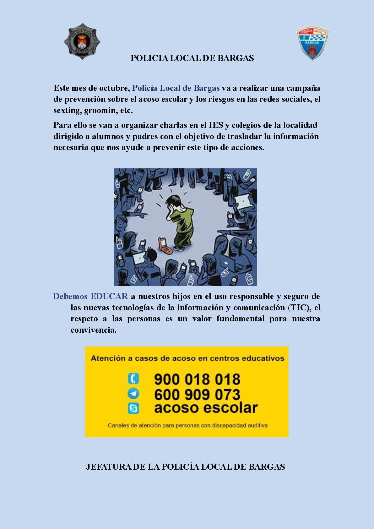 Campaña de prevención del acoso escolar