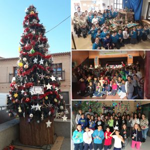 Los colegios del municipio participan en la elaboración de los adornos del Árbol de Navidad