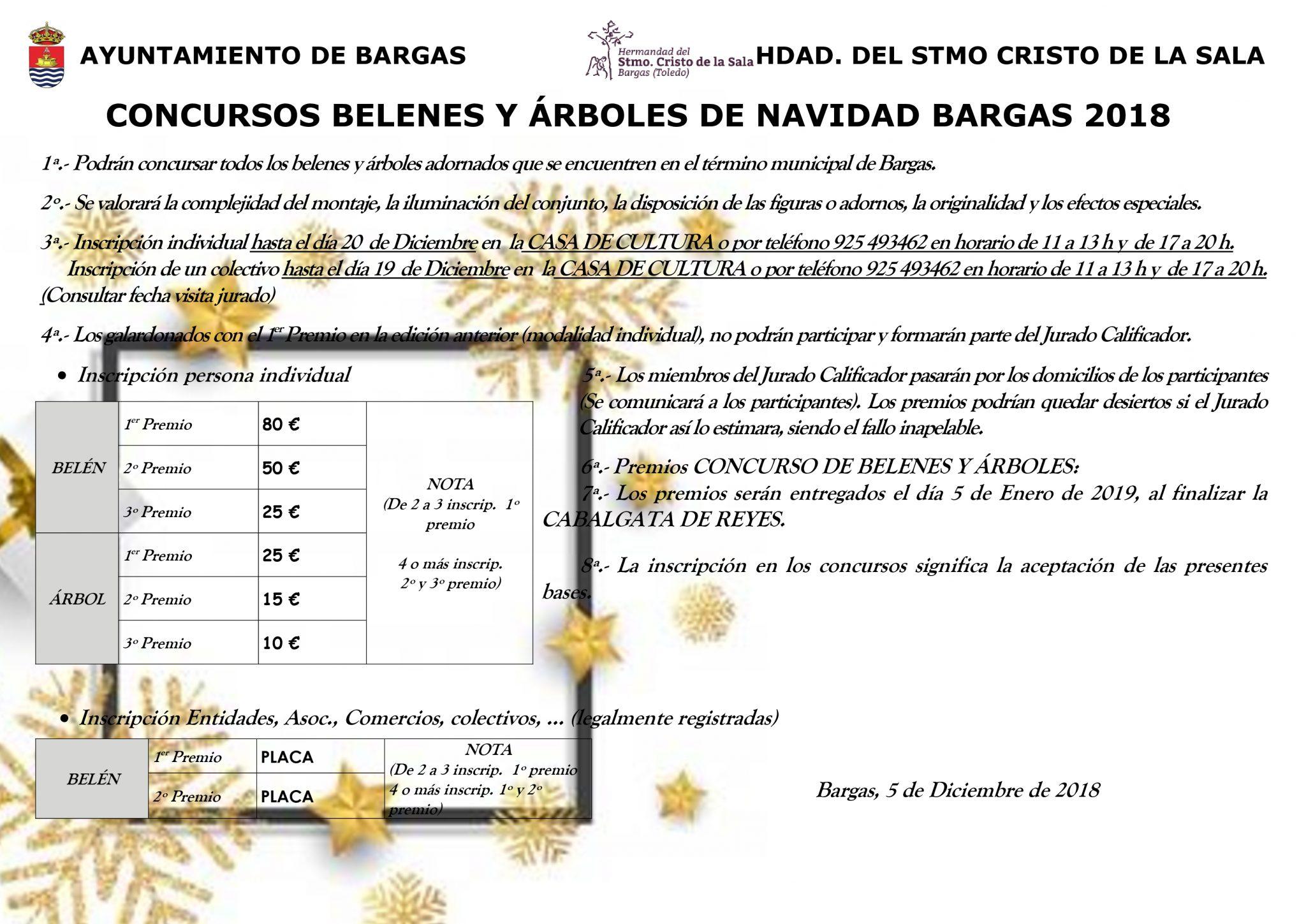 Concurso de Belenes y Árboles de Navidad 2018