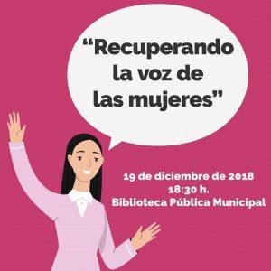 """Inauguración del espacio bibliográfico y audiovisual de mujeres: """"Recuperando la voz de las mujeres"""""""