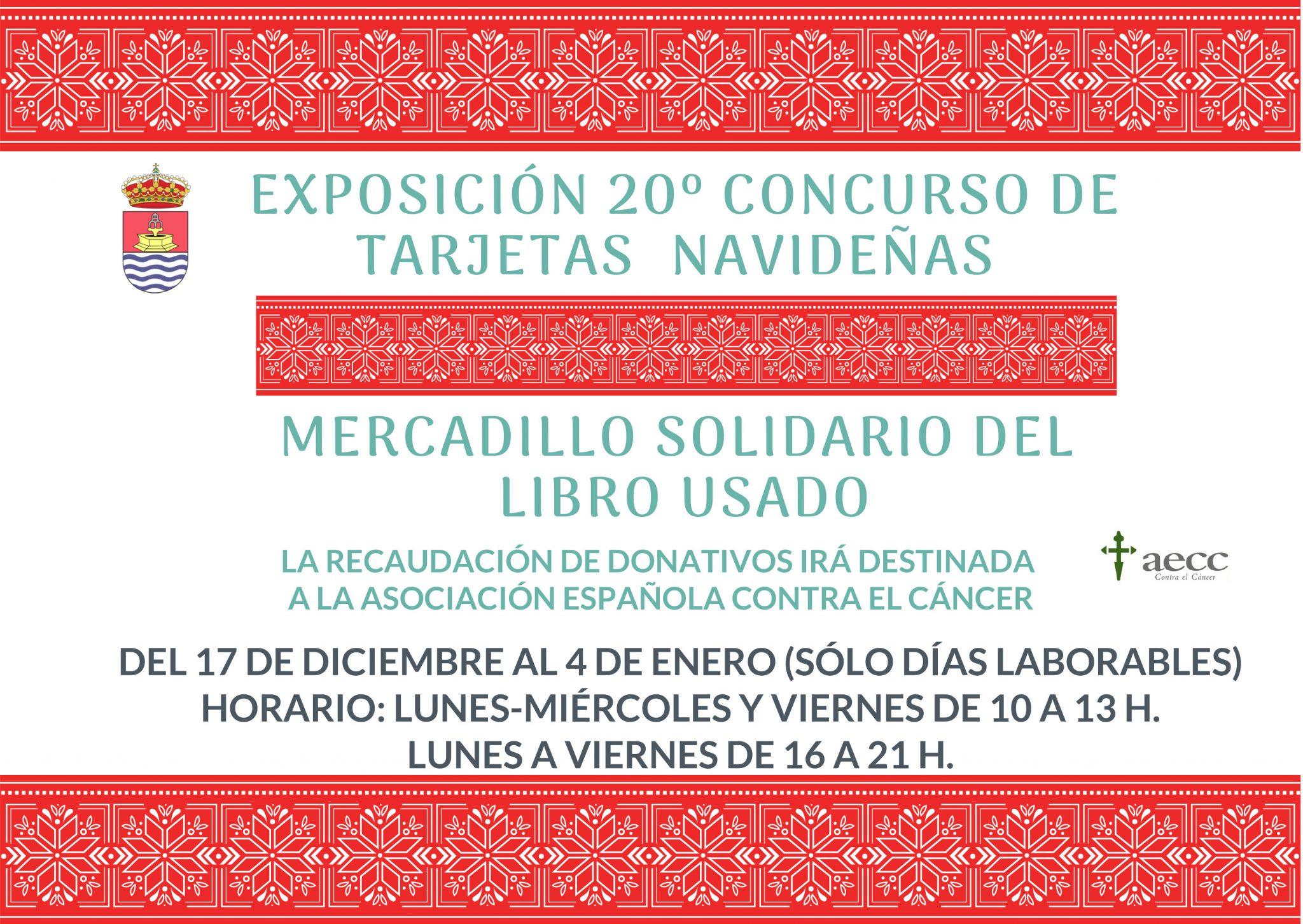 Exposición del 20º Concurso de Tarjetas Navideñas y Mercadillo Solidario del Libro Usado