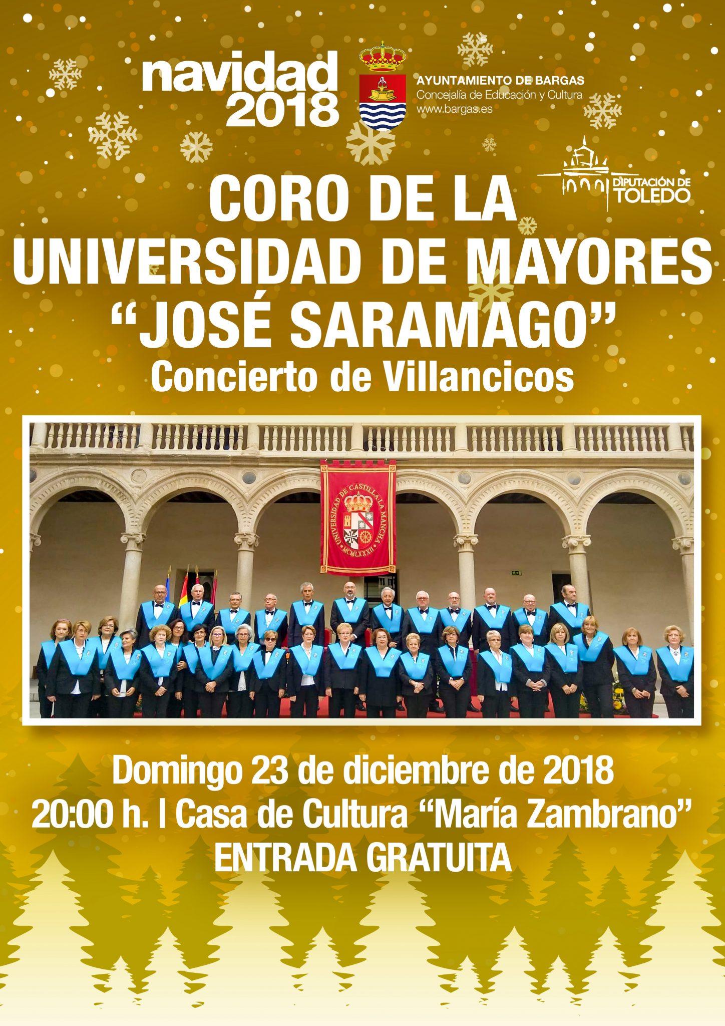 Concierto de Villancicos a cargo del Coro de Mayores de la Universidad «José Saramago»