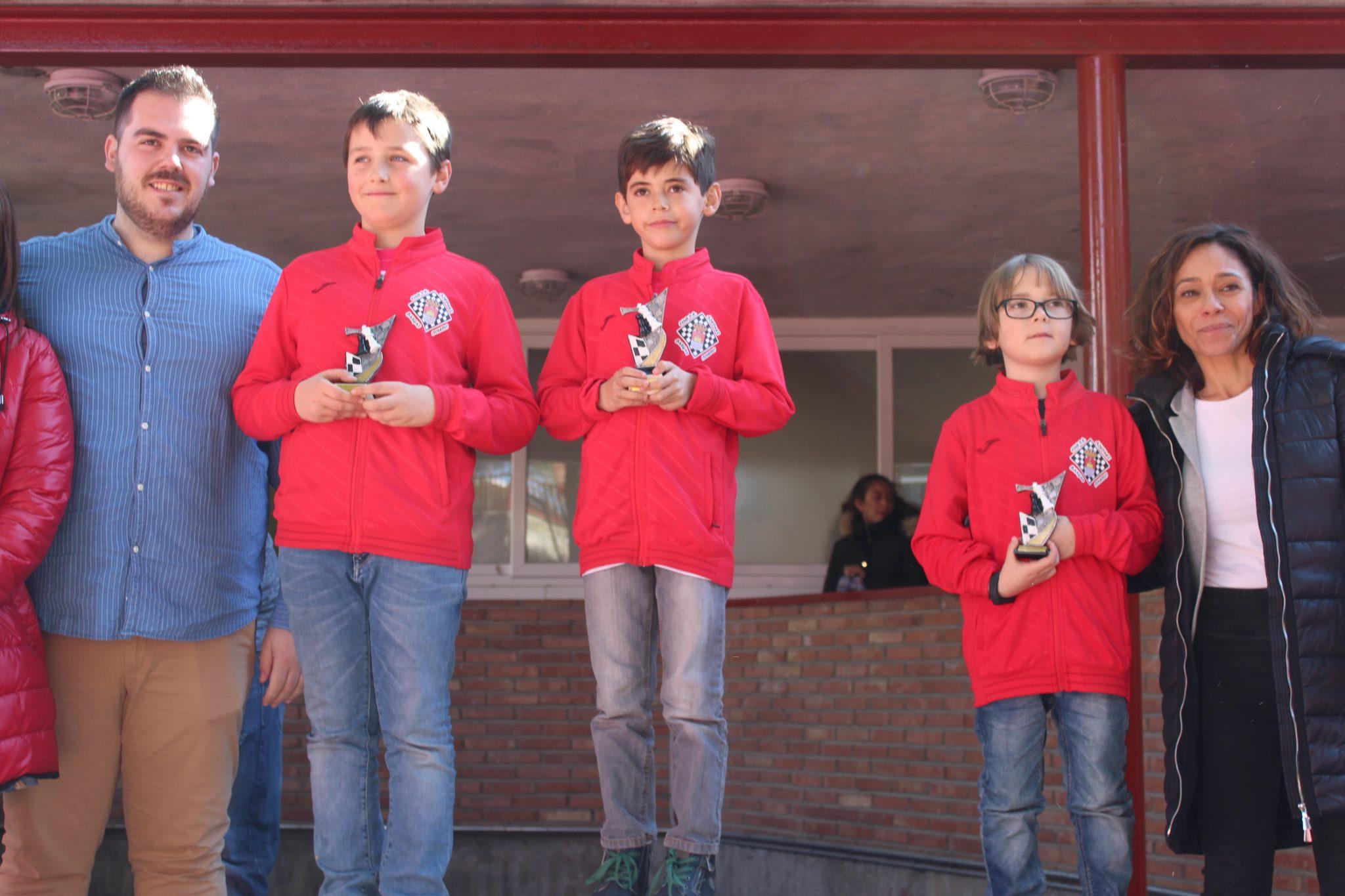 3. Pleno en Sub-10 M Dani, Hugo, Teo