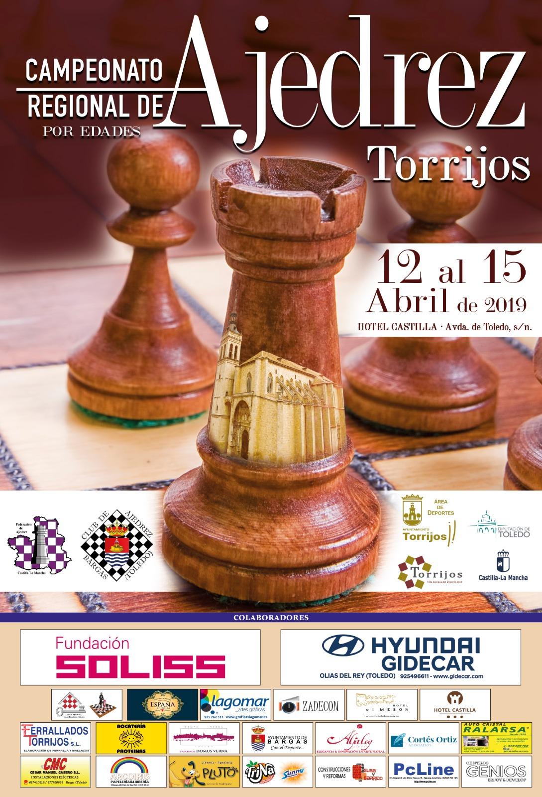 El Club Ajedrez Bargas – Soliss, organizador por primera vez del Campeonato Regional de Ajedrez por Edades