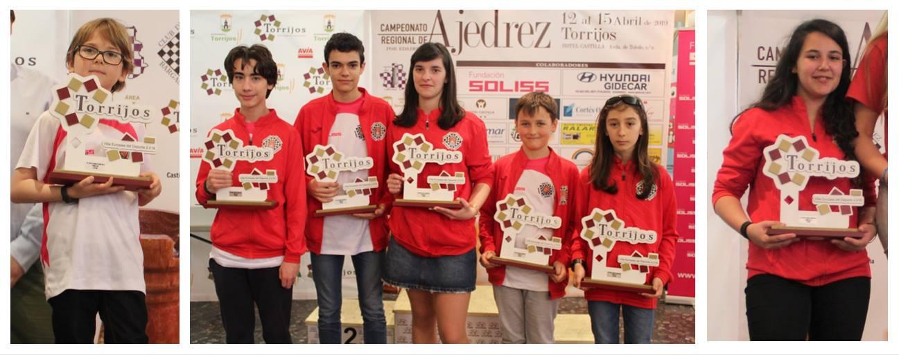 Los 7 podiums