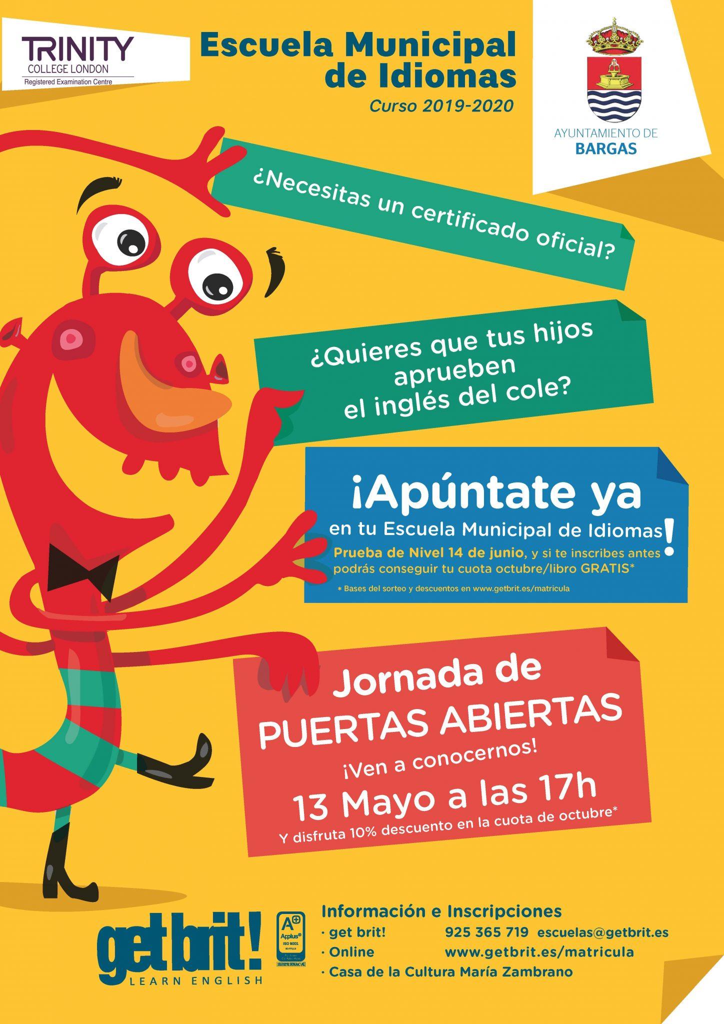 Jornada de puertas abiertas de la Escuela Municipal de Idiomas