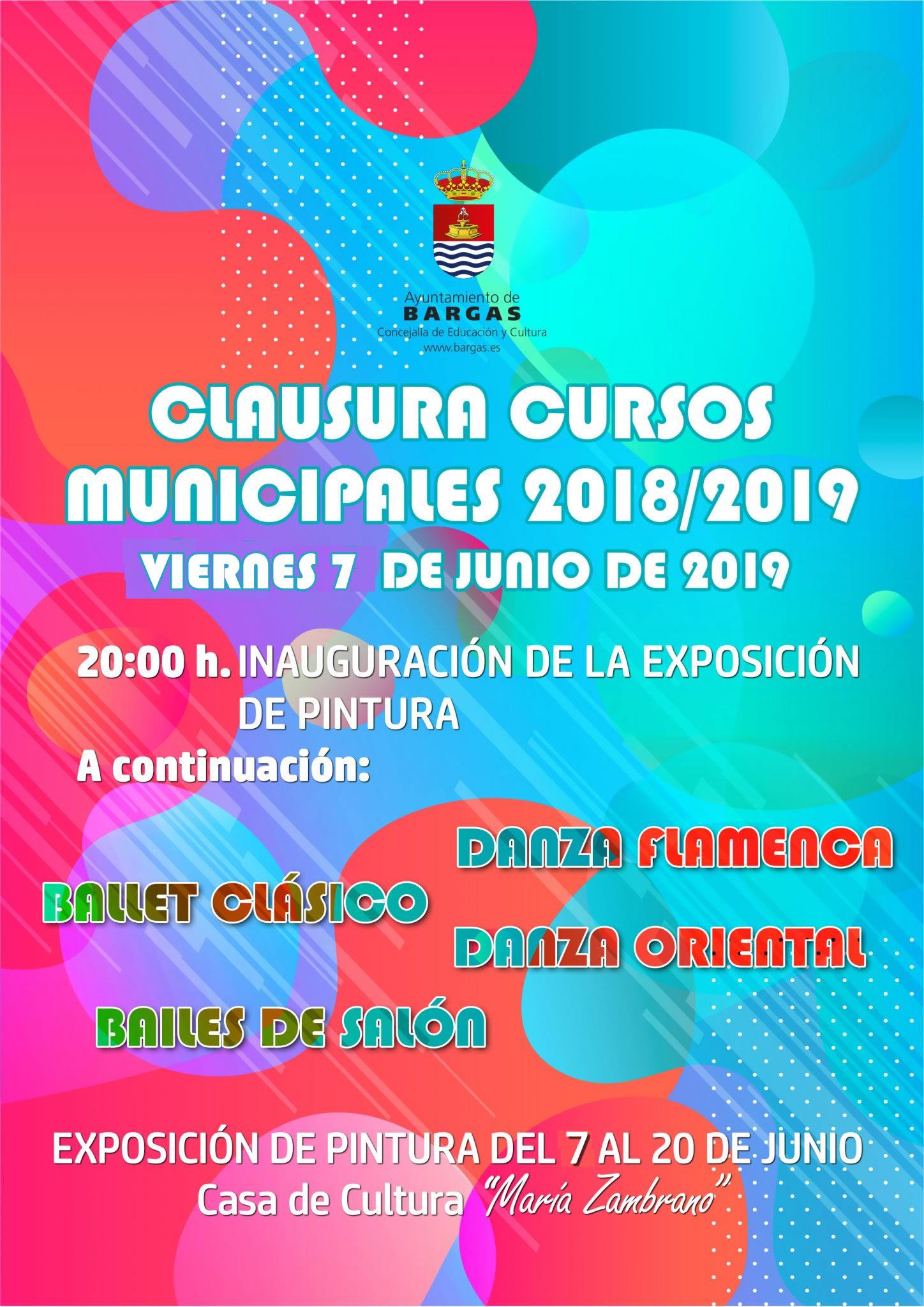 Clausura de los Cursos Municipales 2018/2019