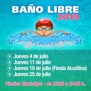 Baños libres en la Piscina Municipal – 2019