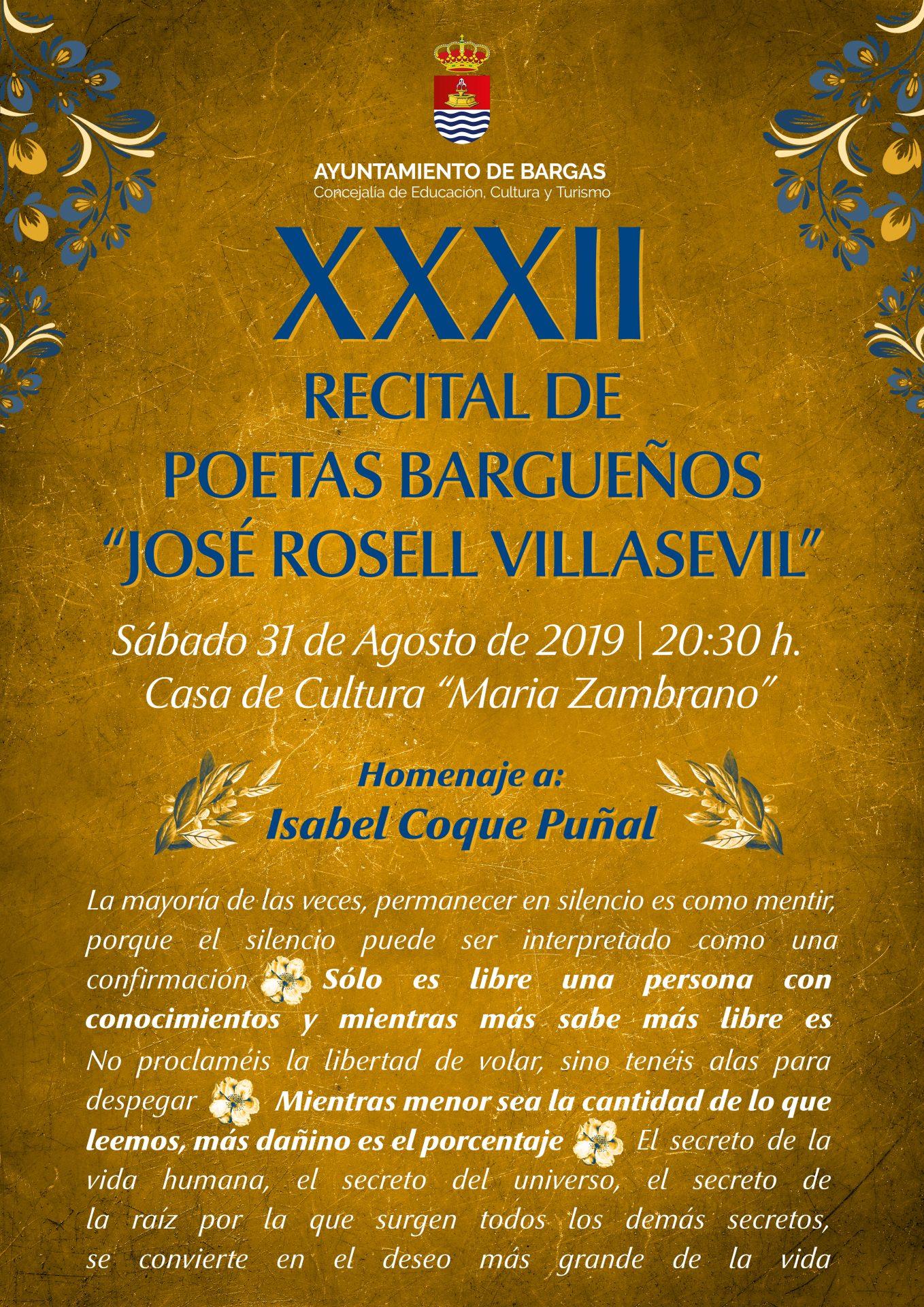 XXXII Recital de Poetas Bargueños