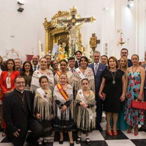 El traje de bargueña luce en los actos religiosos celebrados en Bargas con motivo de las Fiestas Populares en Honor del Stmo. Cristo de la Sala
