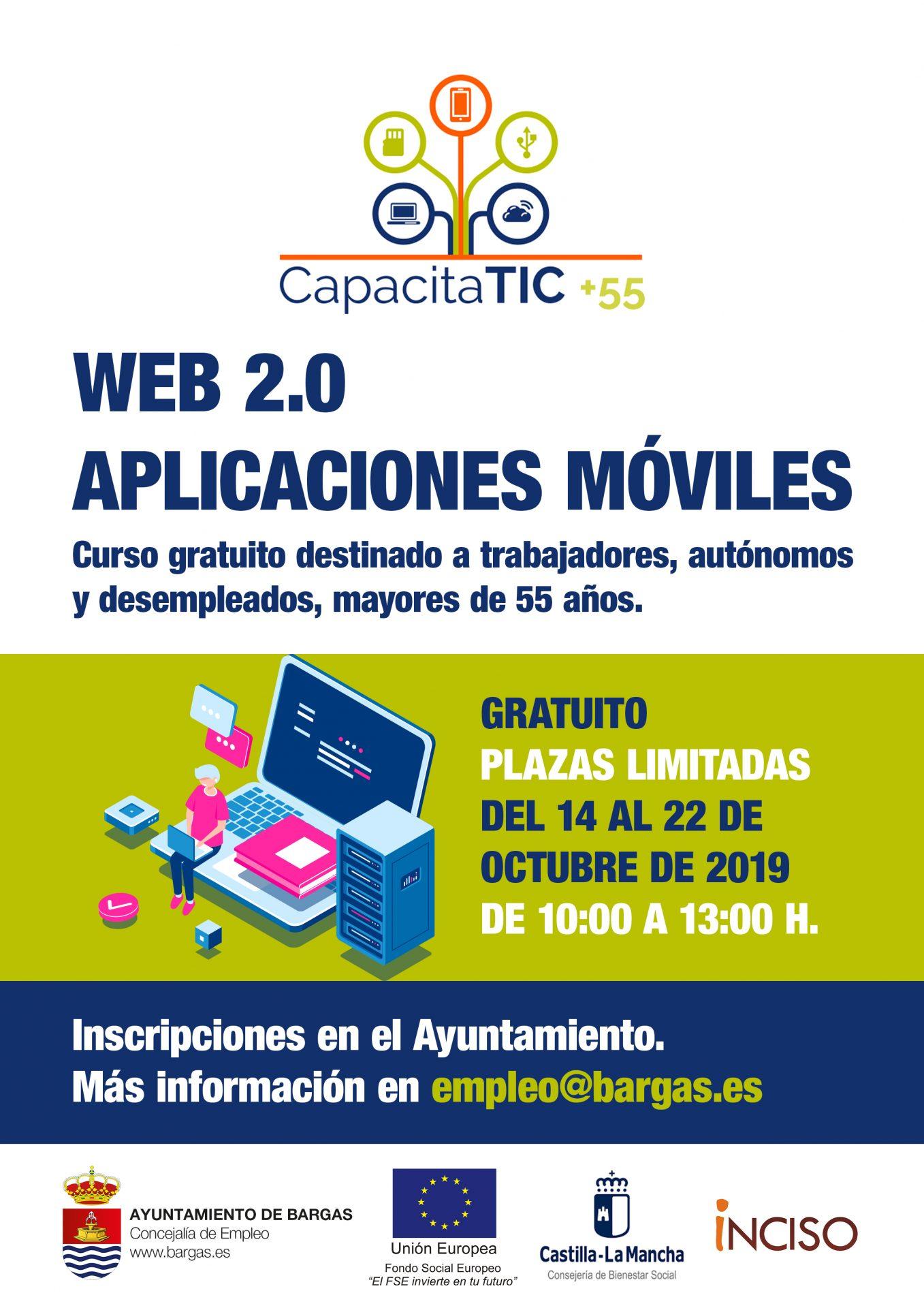 Curso gratuito para mayores de 55 años: Web 2.0-Aplicaciones Móviles