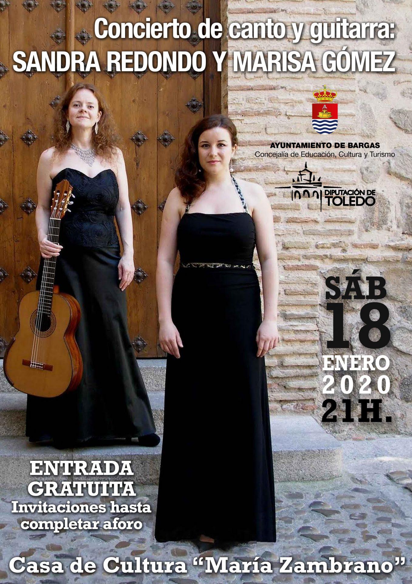 Concierto de canto y guitarra: Sandra Redondo y Marisa Gómez