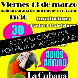 CANCELADO – ¡Vamos al teatro!: «Adiós Arturo»