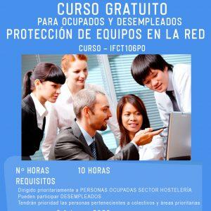 Curso gratuito de Protección de Equipos en la Red para ocupados y desempleados
