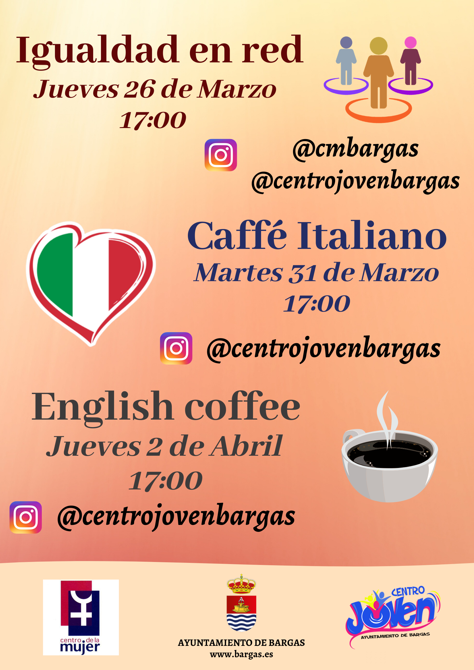 Igualdad en red – Caffé Italiano & English Coffee
