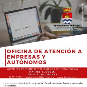 El Ayuntamiento de Bargas pone en marcha un servicio gratuito de ventanilla única empresarial para los autónomos y empresas de la localidad