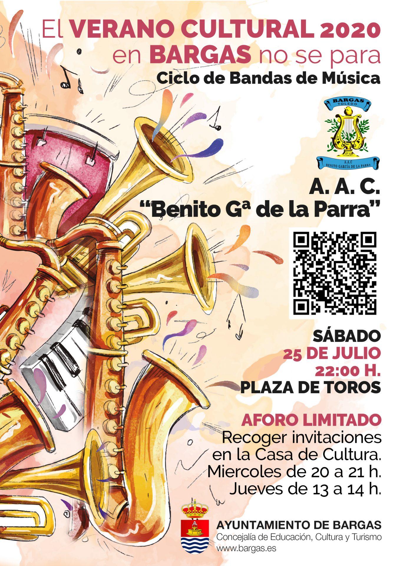 Verano Cultural 2020: Concierto de la A. A. C. «Benito García de la Parra»