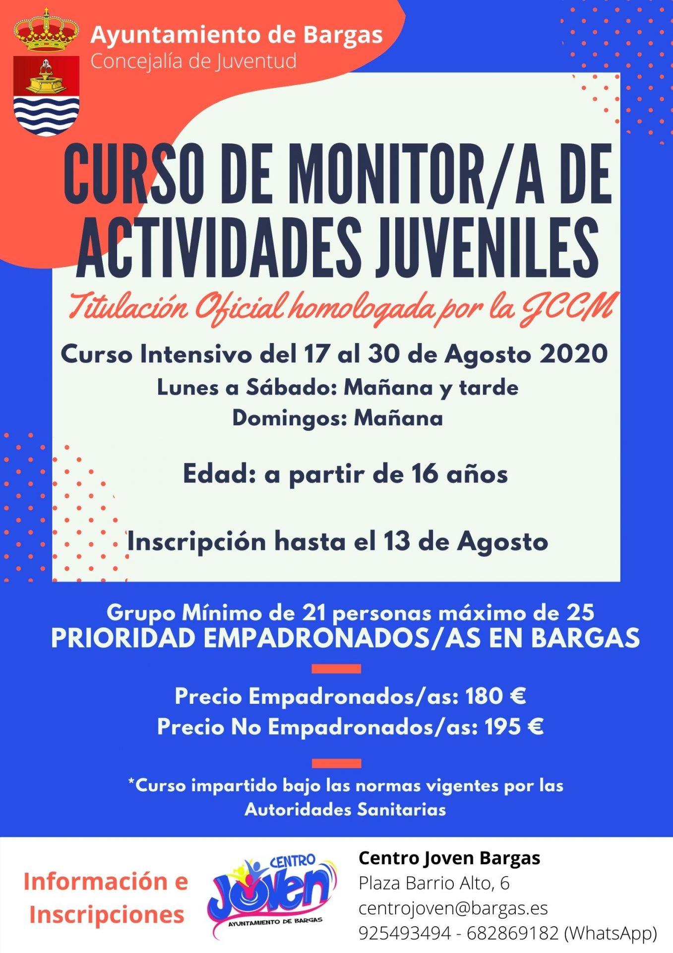 Curso de Monitor/a de Actividades Juveniles – 2020