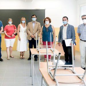 Finalizadas las obras de ampliación de cuatro nuevas aulas del I.E.S. «Julio Verne» que entrarán en funcionamiento el próximo curso