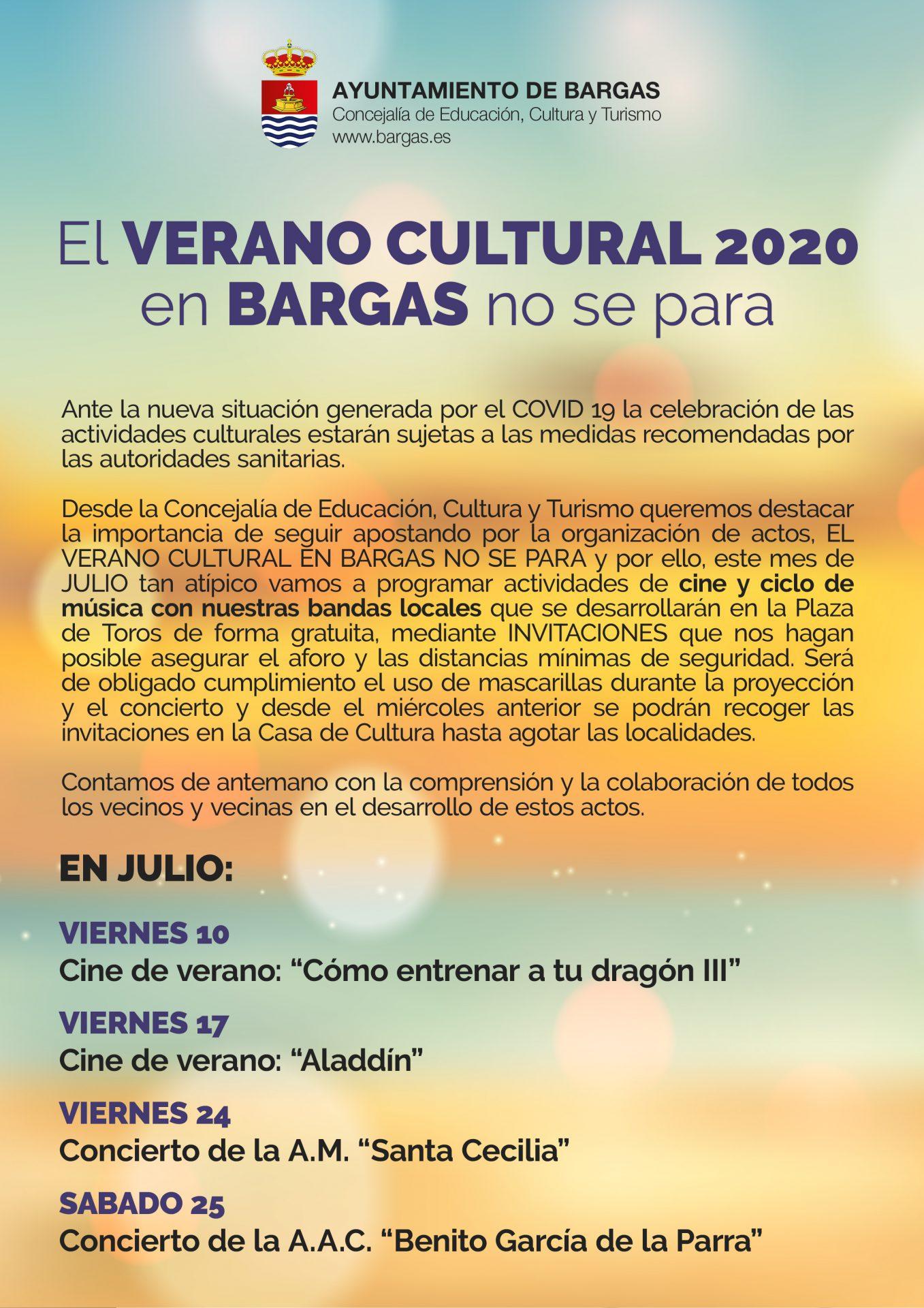 Verano Cultural – Julio 2020