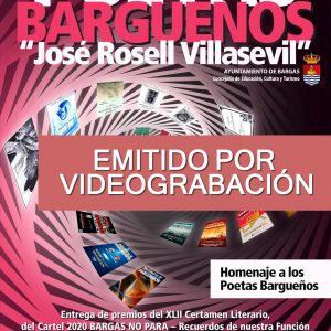 XXXIII Recital de Poetas Bargueños – EMITIDO POR VIDEOGRABACIÓN