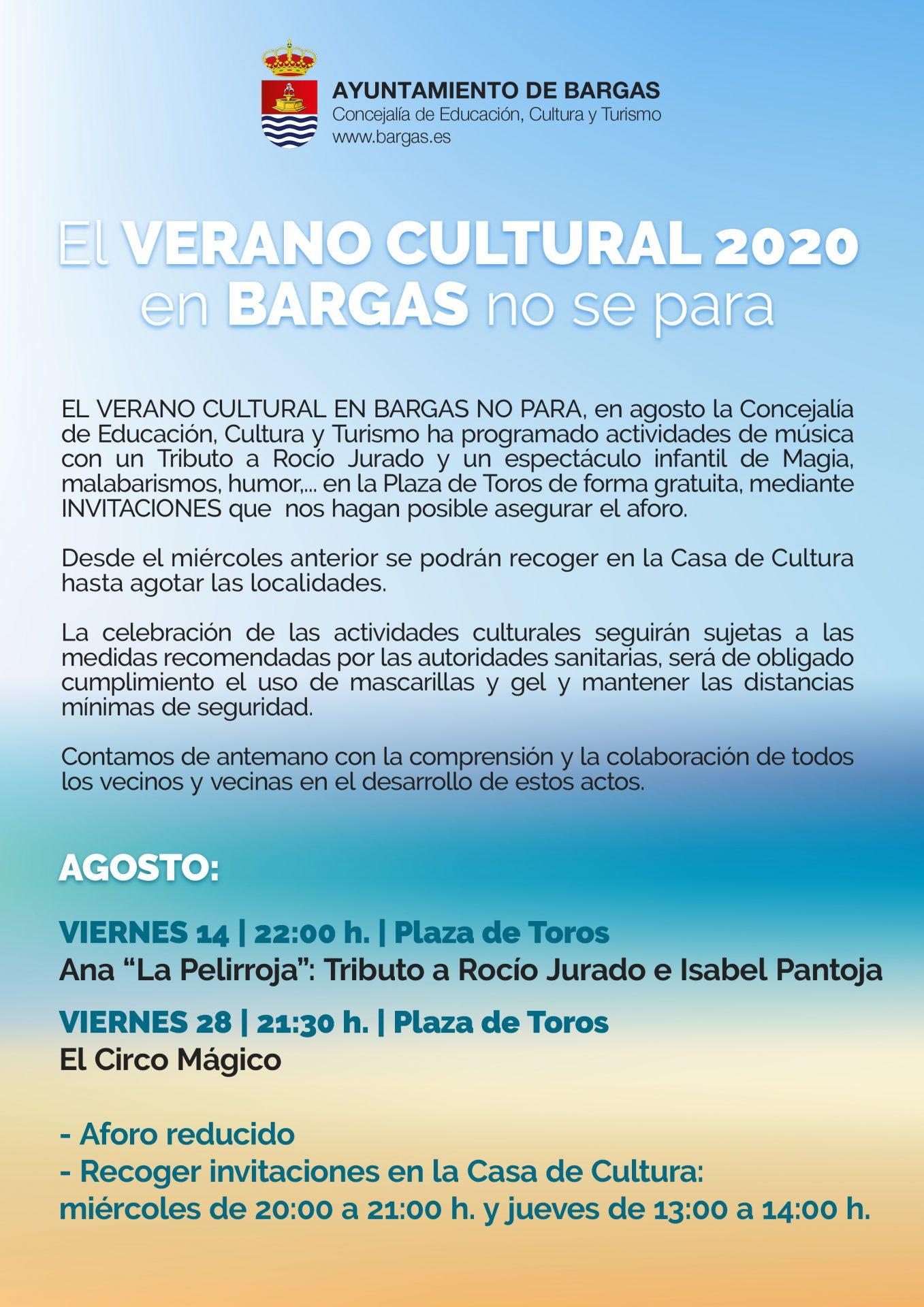 Verano Cultural – Agosto 2020
