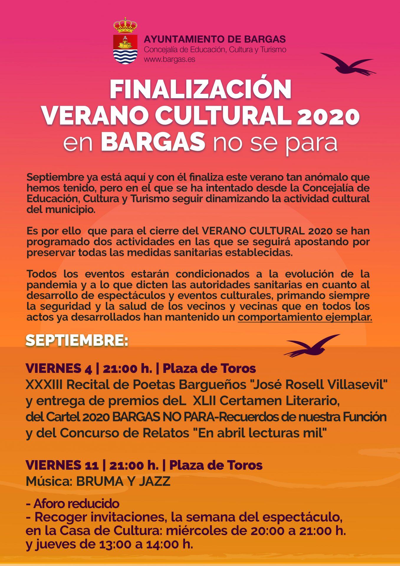 Verano Cultural – Septiembre 2020