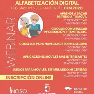 Programa de Alfabetización Digital «Los mayores forman la red CLM» Edición 2020