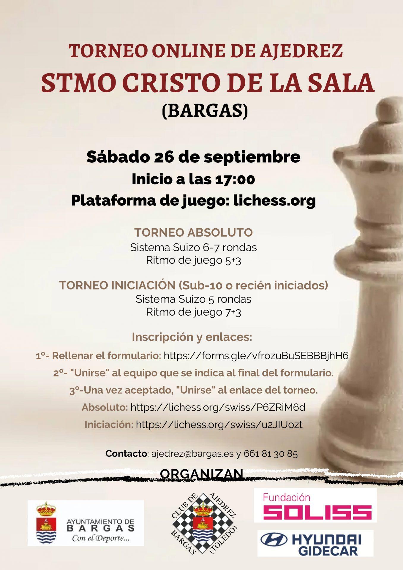 Torneo online de Ajedrez «Stmo. Cristo de la Sala»
