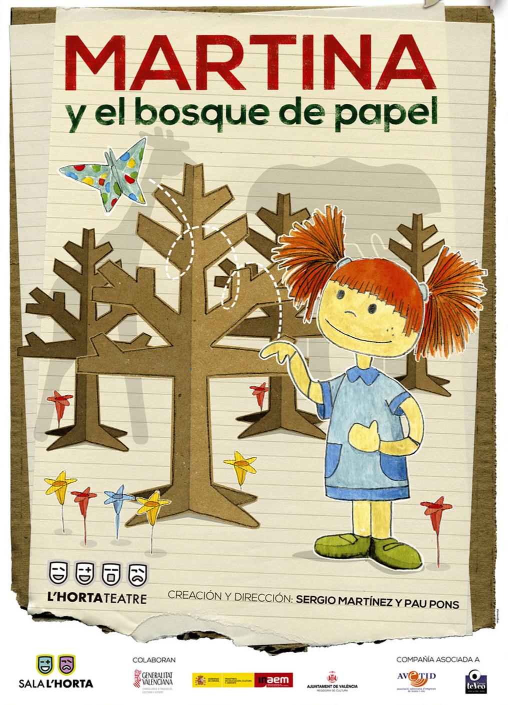 Teatro infantil (+3 años): «Martina y el bosque de papel»