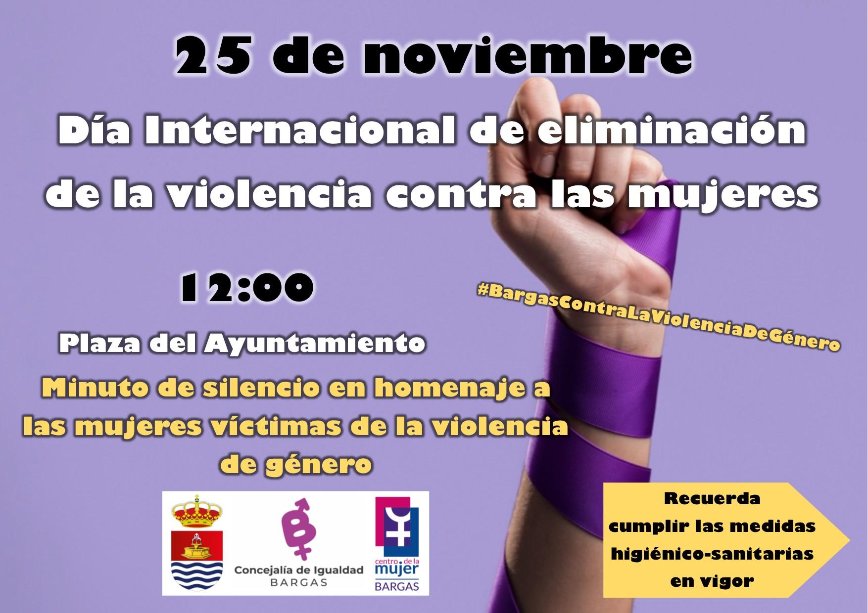 Minuto de silencio en homenaje a las mujeres víctimas de la violencia de género