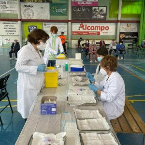 Segundo día de vacunación para los bargueños/as de 70 a 79 años